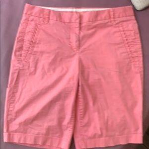 J Crew pink Bermuda style shorts